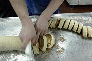 Baker Prepares Sweets