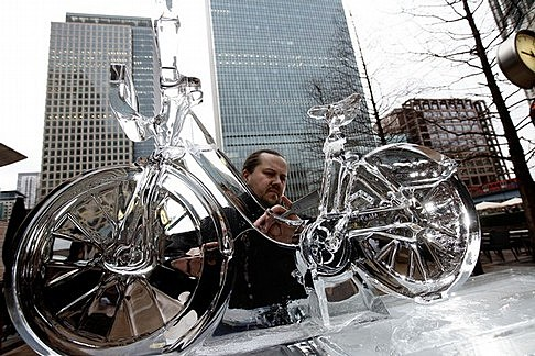 The London Ice Sculpting Festival Returns To Canary Wharf