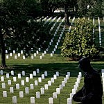 American Flags Placed At Graves At Arlington Nat'l Cemetery
