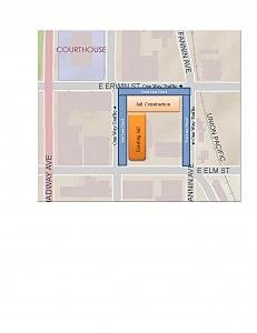 map of lane closures