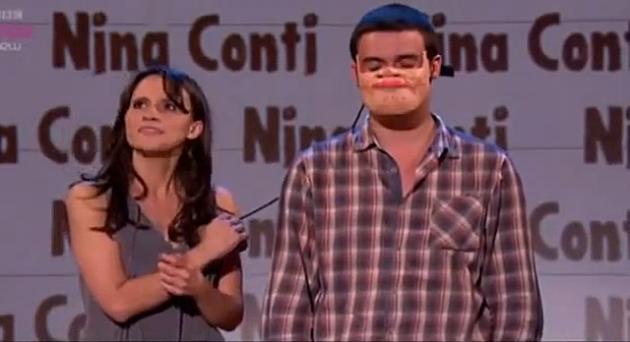 "Nina Conti ""Human Puppet"" ventriloquist"