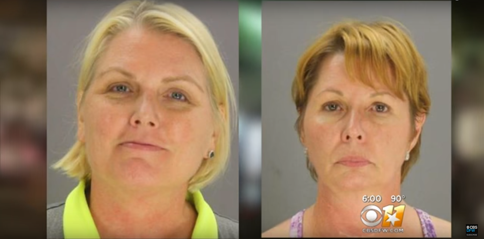 Amy Witherite (left), Barbara Witherite (right) / CBSDFW via Youtube